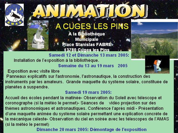 Animation � Cuges les pins